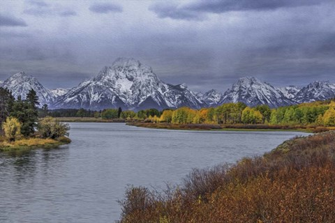 Framed Oxbow Bend Fall 2013 Print