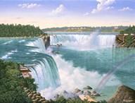 Niagara Falls In 1860  Fine Art Print