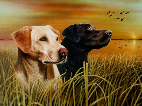 Framed Hunting Dogs Print