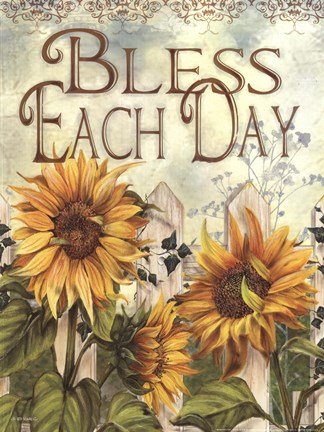 Framed Bless Each Day Print