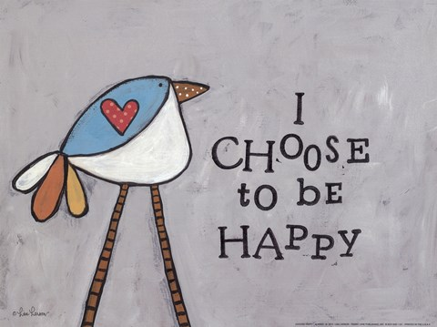 Framed Choose Happy Print