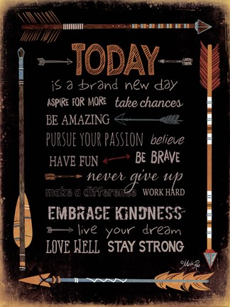 Framed Today Is A Brand New Day Print