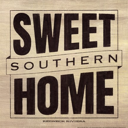 Framed Sweet Southern Home Print