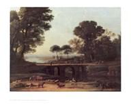 Brook And Two Bridges  Fine Art Print