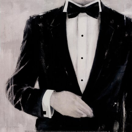 Framed Black Tie Optional Print
