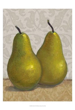Framed Pear Duo II Print