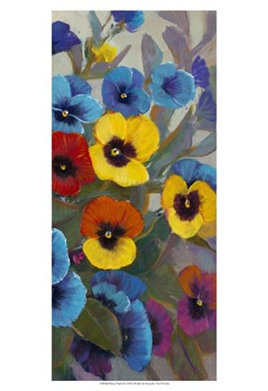 Framed Pansy Panel III Print