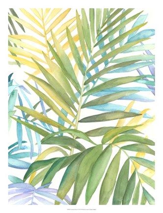 Framed Tropical Pattern I Print