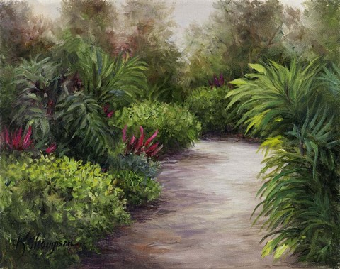 Framed Tropical Pathway Print
