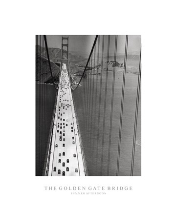 Framed Golden Gate Bridge, Summer, PM Print