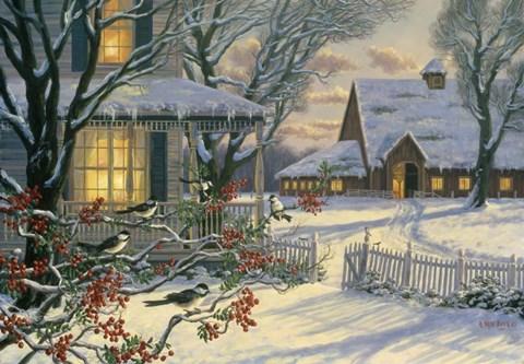 Winter Chickadees Fine Art Print By Randy Van Beek At