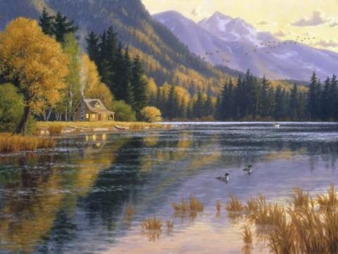 Silver Lake Getaway Fine Art Print By Randy Van Beek At