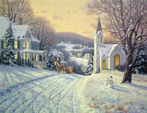 Sleigh Ride At Dusk Fine Art Print By Randy Van Beek At