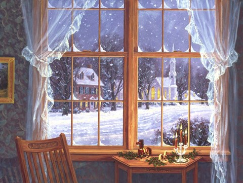 Framed Winter Windows Print