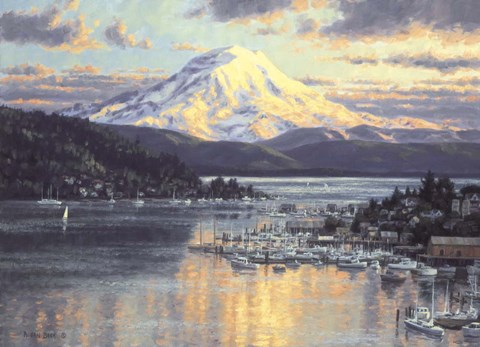 Framed Gig Harbor 1 Print
