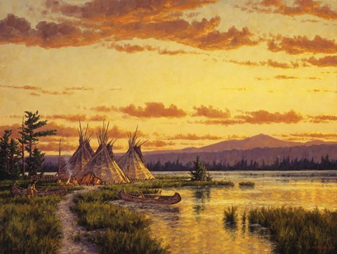 Framed Northern Blackfoot Hunters Camp Print