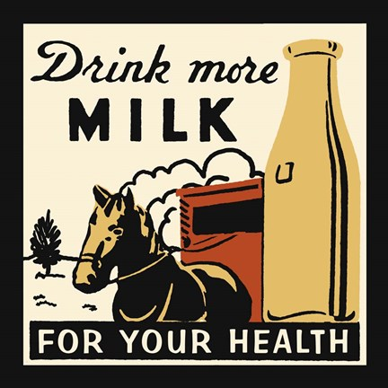 Framed Drink More Milk For Your Health Print