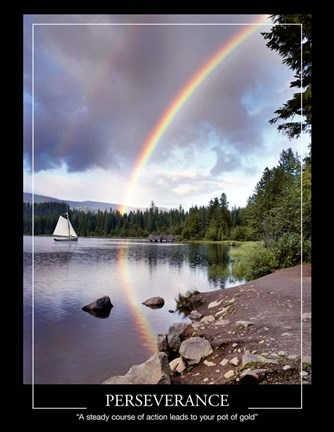 Framed Sailing Under Rainbows Print