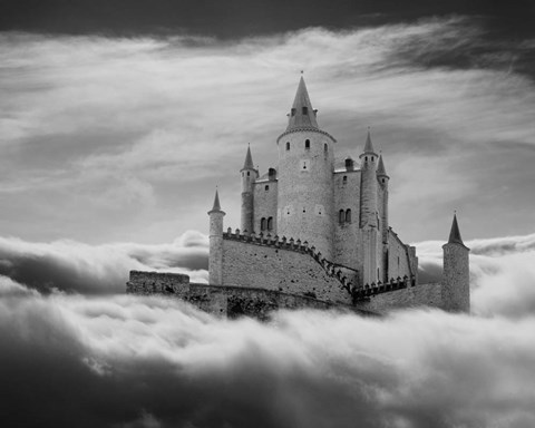 Framed Castle In The Clouds, Segovia, Spain 11 Print