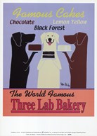 Three Lab Bakery  Fine Art Print
