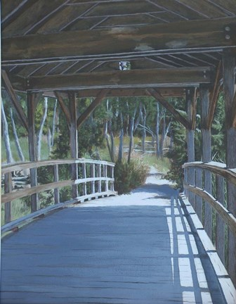 Framed Plein Air Covered Bridge Print