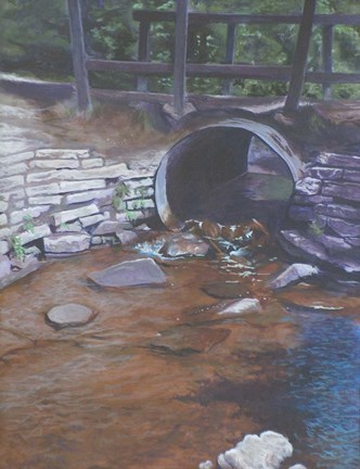 Framed Plein Air Culvert Print