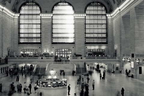 Framed Grand Central Time Lapse Print