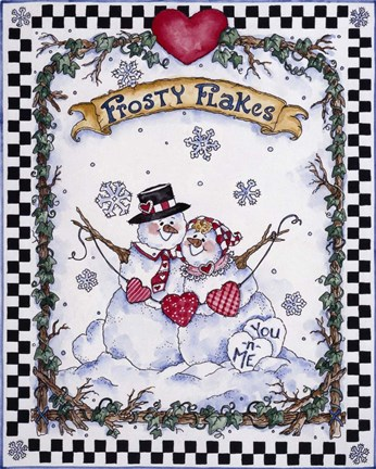 Framed Frosty Flakes Print