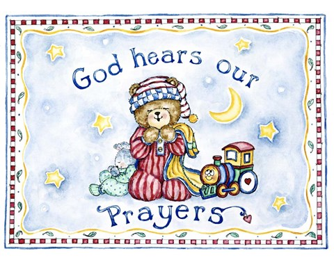 Framed God Hears Our Prayers Print
