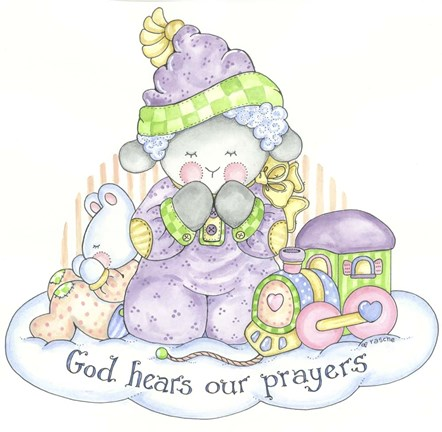 Framed God Hears Our Prayers 2 Print