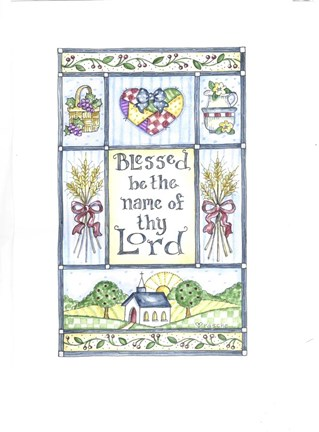 Framed Blessed Be The Name Of Thy Lord Print