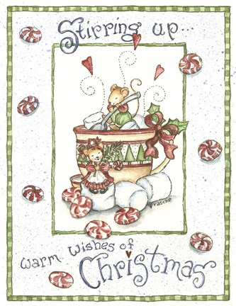 Framed Warm Wishes Of Christmas Print