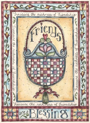 Framed Friends Blessings Print