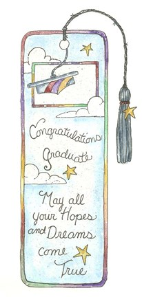 Framed May All Your Hopes Bookmark Print