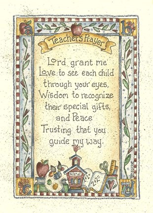Framed Teacher's Prayer 2 Print