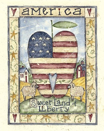 Framed Sweet Land Of Liberty Print