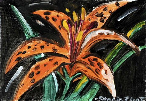 Framed Tiger Lily Print