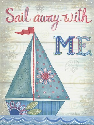 Framed Sail Away With Me Print