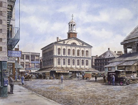 Framed Faneuil Hall, c.1915 Print