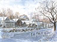 The Hockey Game  Fine Art Print