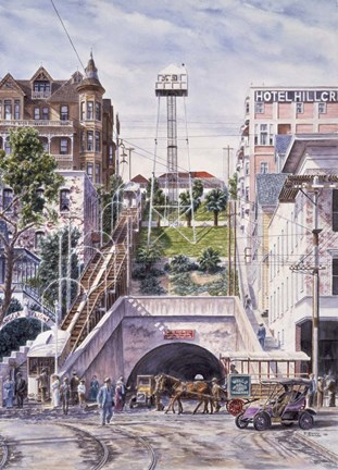 Framed Angel's Flight, c.1906 Print