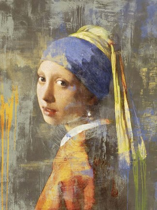 Framed Vermeer's Girl 2.0 Print