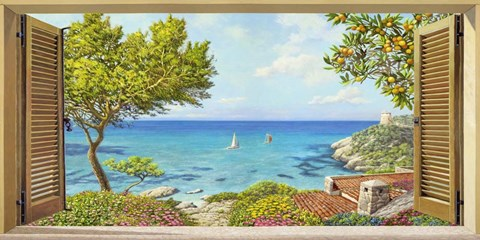 Framed Finestra sul Mare II Print