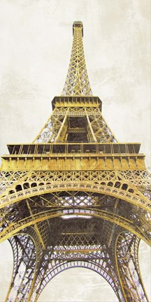 Framed Gilded Eiffel Tower Print