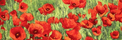 Framed Poppy Field (Detail) Print