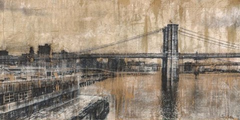 Framed Brooklyn Bridge 1 Print
