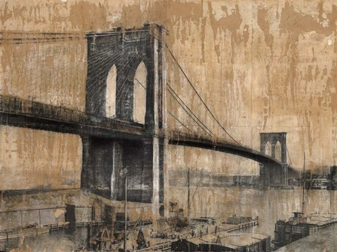 Framed Brooklyn Bridge 2 Print