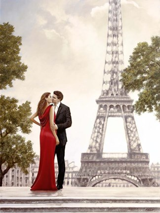 Framed Romance in Paris I Print