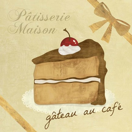 Framed Gateau au Cafe Print
