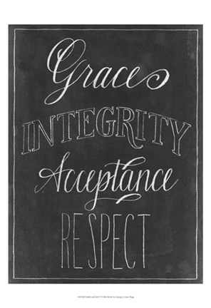 Framed Chalkboard Faith V Print